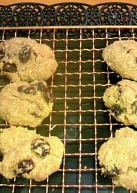 ピーナッツバターオーツレーズンクッキー