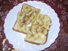 食パンで作るバナナブレッド