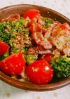 ブロッコリーとトマトのサラダ。