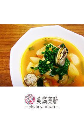 海鮮トマトスープ 薬膳 血虚レシピ
