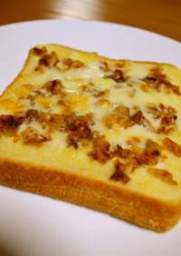 オニオンフライ&とろ〰りチーズのトースト
