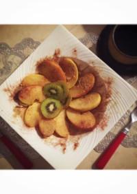 ローラちゃんのココナッツオイル焼きりんご