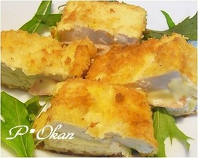 豆腐ハムチーズカツ