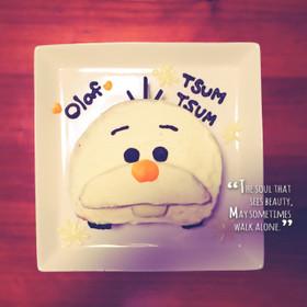 簡単♪可愛い♪ツムツム♪オラフ♪ケーキ