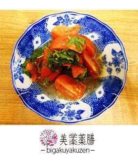 トマトの大葉あえ 薬膳 気滞のレシピ