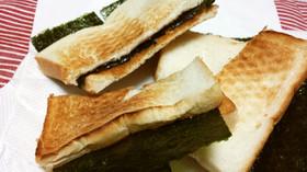緑茶に良く合う!海苔醤油トースト