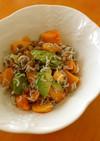 柿とアボカドの納豆シラス和えサラダ