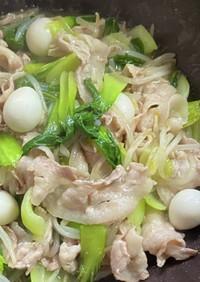 青梗菜&豚バラ肉★熱々トロミの中華炒め