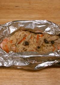 鮭のホイル焼(マヨネーズ)