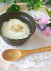 レンジで簡単♡片栗粉でお豆腐プリン