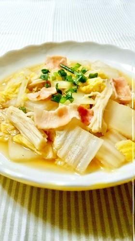 簡単副菜♪白菜とエノキの蒸し煮
