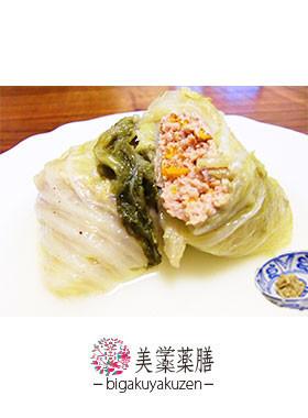 チキンのロール白菜 薬膳 水滞レシピ