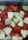 フルーツゼリーその7(りんごとイチゴ)