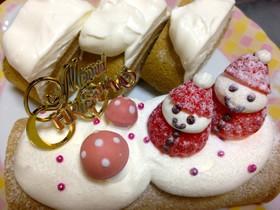 クリスマス シンプル簡単ふわロールケーキ