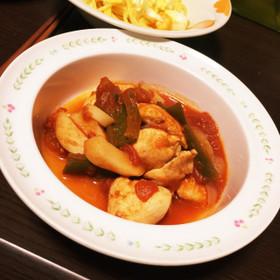 簡単*鶏のトマト煮