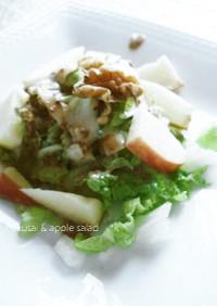 白菜とりんごの胡麻ダレ風味