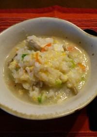 温まる!卵雑炊♪鶏がらスープの素×白だし