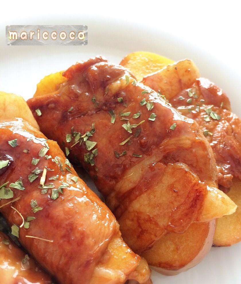 りんご♡の豚肉巻きソテー 簡単ほっぺ落ち