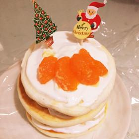 ホットケーキでクリスマスケーキ☆離乳食
