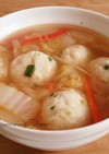 おから&豆腐&米粉*白菜の団子スープ