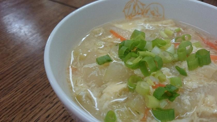 とろ〜り♡冬瓜と卵の中華風スープ