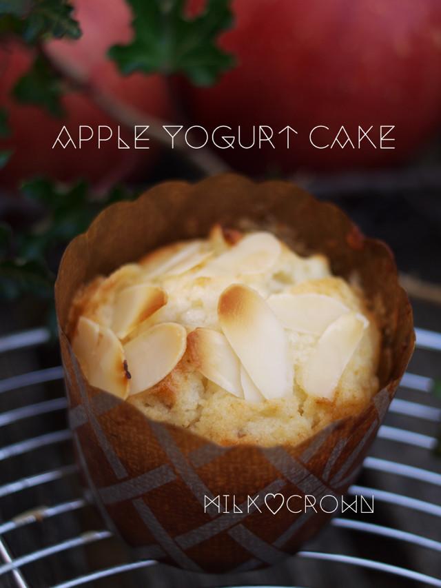 りんごとクルミのケーキ