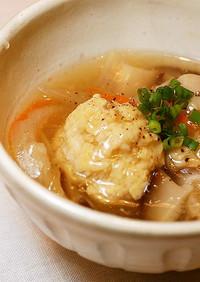 豆腐入り♬ふんわり鶏団子の野菜あん