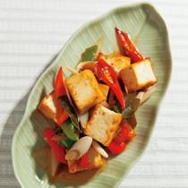 厚揚げ豆腐のレモングラス炒め
