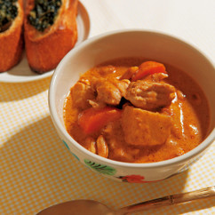 鶏肉と野菜のイスラム風カレー