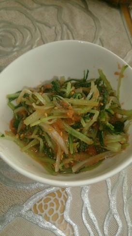 水菜と明太子のナムル