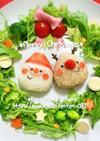 キャラ弁*簡単♪クリスマスプレート