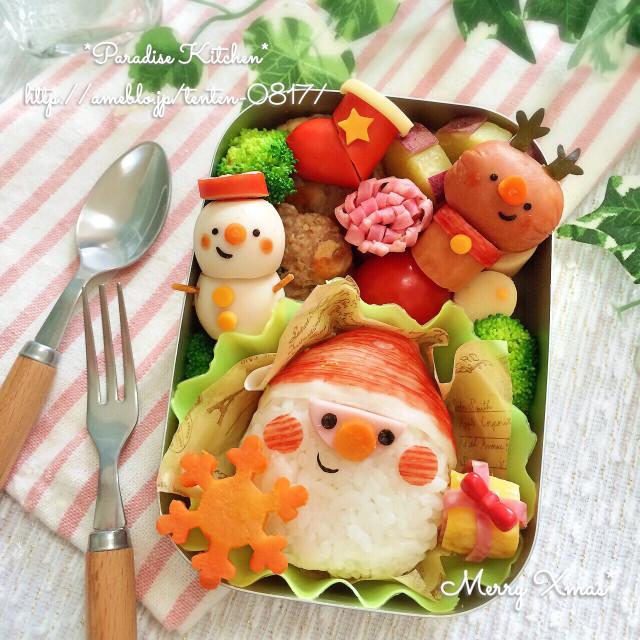 キャラ弁*簡単♪クリスマスサンタ弁当
