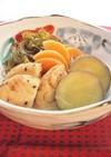 切昆布とがんもと薩摩芋の煮物