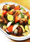 野菜たっぷり!豚コマのさっぱり酢豚醤油味