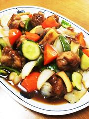 野菜たっぷり!豚コマのさっぱり酢豚醤油味の写真