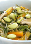 枝豆入り♪しらすと小松菜の煮びたし