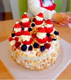 卵・オーブン不要♡パーティケーキ