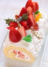 クリスマスケーキ★白いブッシュドノエル
