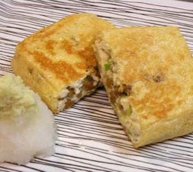 パリッと美味しい豆腐入りの揚げ納豆♪