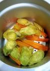 圧力鍋で簡単な野菜蒸し。離乳食に。