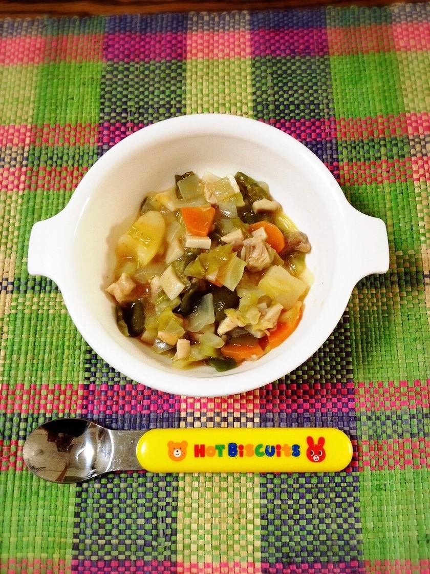離乳食完了期☆鶏肉と野菜のケチャップ煮
