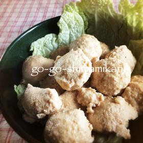 鍋に便利なふわふわ鶏団子