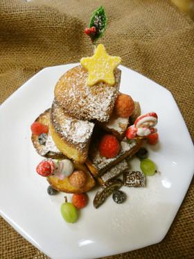 ドーナツパンケーキでクリスマス★