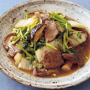 牛肉とせりの甘辛炒め煮