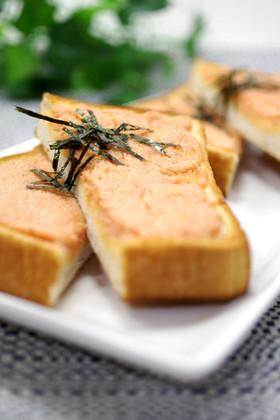 簡単▶▶隠し味でお店の明太マヨトースト