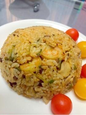 麻婆豆腐で炊き込みご飯・炊き込みピラフ