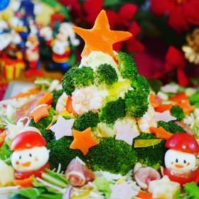 簡単!ポテトサラダDEクリスマスツリー♪