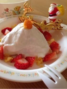 ☆1歳前の離乳食の子にクリスマスケーキ☆
