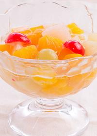 缶詰で作るフルーツポンチ【天狗缶詰】