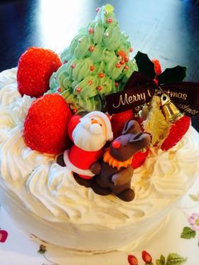 2014ツリー付きクリスマスケーキ